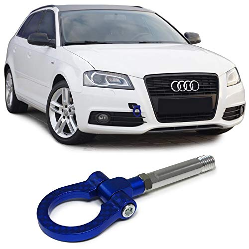 Carparts-Online 27825 Abschlepphaken Abschleppöse Tow Hook Carbon Look blau (Hook Tow Audi)