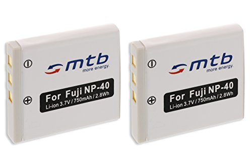 2x Akku für FujiFilm NP-40 / Pentax D-Li8, D-Li102 / Samsung SLB-0737/0837... (siehe Liste)