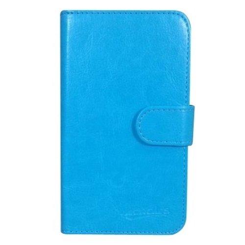 iPhone 8 Book Flip Cover Case Coque de Protection Housse Couverture en cuir artificiel (rose) + 1x Gratuit Protecteur D'écran Blue