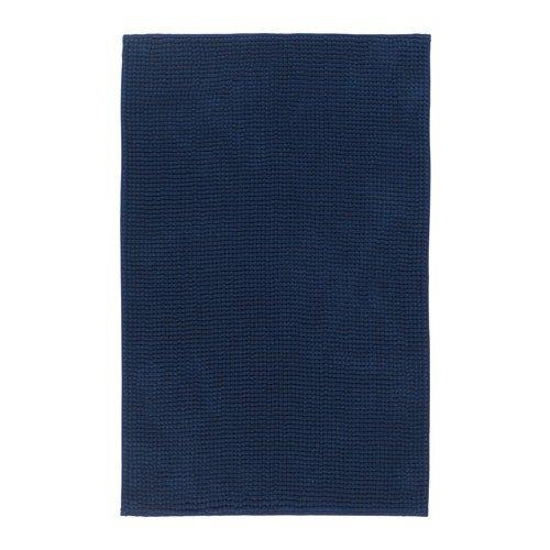IKEA TOFTBO Badematte 60x90cm dunkelblau extra weich Microfaser schnell trocknend Luxus