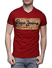 Pepe Jeans - T Shirt Pm503215 Charing 286 Rouge
