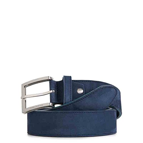 Cintura Piquadro uomo in nabuk con fibbia ad ardiglione CU3897C51 BLU