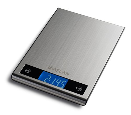 digital-multifunction-kitchen-and-food-scale-stainless-steel-silver-with-lcd-display-by-baflan-11lb-