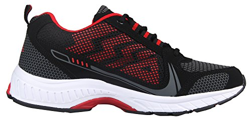 iLoveSIA, Delocrd, scarpe sportive, da uomo Black+Red New Design
