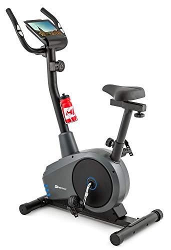 Hop-Sport Heimtrainer Spark Fitnessgerät mit Pulssensoren & Computer Blau