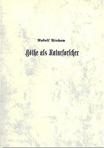 Goethe als Naturforscher und in besonderer Beziehung auf Schiller