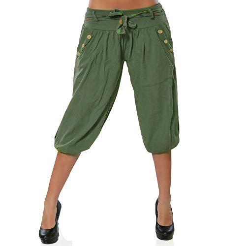 Xmiral Women Pants Solid Low Waist Boho Check Pants Baggy Wide Leg Casual Yoga Capris