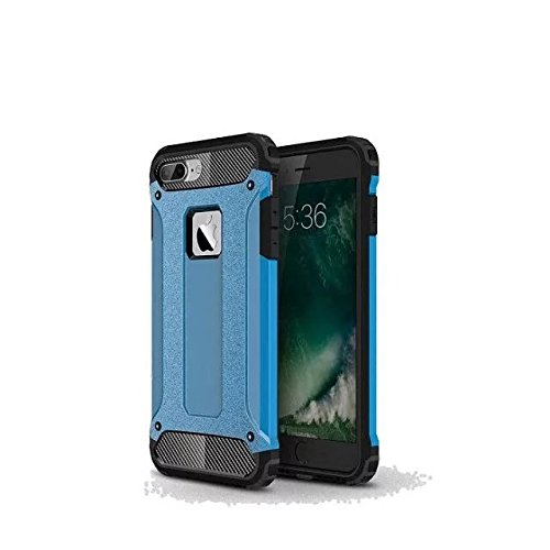 iPhone 7 Plus Coque,Lantier Hybrid PC double couche+TPU Anti-Drop antichoc Cool design Etui rigide robuste robuste Lumière mince Armure pour Apple iPhone 7 Plus (5,5 pouces) Rose d'or Blue