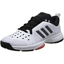 Adidas Hombres Barricade Classic Bounce Zapatillas De Tenis Zapatilla Todas Las Superficies Blanco - Negro 45