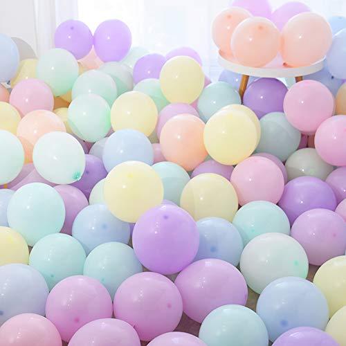 PuTwo Látex Globos de Cumpleaños 100 Piezas Globos de Helio Globos Boda para Cumpleaños Decoración Fiesta Aniversario Baby Shower Comunión Bodas Navidad Graduación-Color Pastel