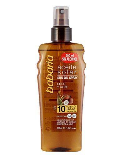 Babaria Solar Oil Spray Coco and Aloe SPF10-200 ml