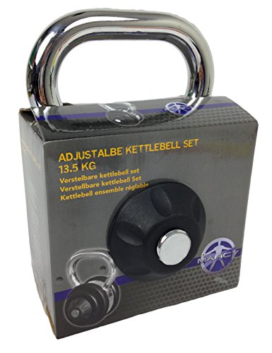 MARCY Fitness Kugelhantel verstellbares Kettlebell Set 13.5 kg, 14MASCL237