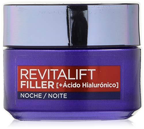 L'Oreal Paris Dermo Expertise Crema Rellenadora de Noche de Revitalift Filler, con Ácido Hialurónico- 50 ml