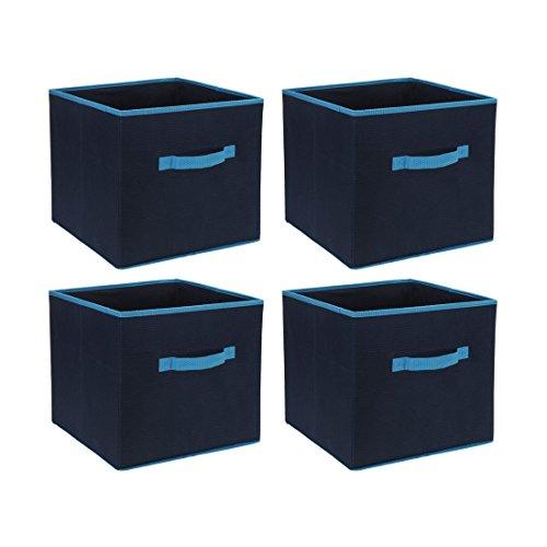4cajas plástico Cajas Nou Cajas Bandeja Cajas Cajas Plegable Color Azul Marino 31cm