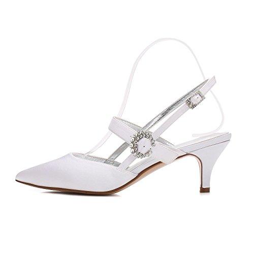 Elegant high shoes Scarpe da Donna Seta Inverno Primavera Estate Autunno Comfort Tacco a Spillo Punta a Punta per Abito da Sposa Party & Evening White Blue