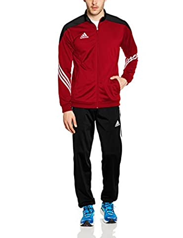 adidas Men's Sereno 14 Polyester Tracksuit - University Red/Black/White, Medium