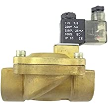 "MISOL 1pcs of New 220V Electric Solenoid Valve G1""(BSP) DN25 for Air Water Gas Diesel/Eléctrica válvula solenoide G1 ""(BSP) DN25 para Aire Agua Gas Diesel"