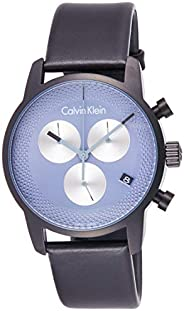 Calvin Klein K2G177C3 Mens Quartz Watch, Chronograph Display and Leather Strap - Grey