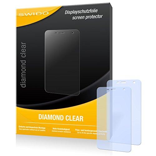 SWIDO 2 x Displayschutzfolie Wiko Bloom Schutzfolie Folie DiamondClear unsichtbar