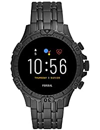 Fossil Garrett Hr Smartwatch Digital Black Dial Men's Watch-FTW4038