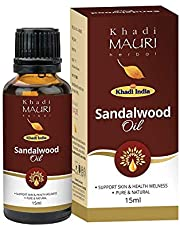Khadi Mauri Herbal Edible Sandalwood Oil Enhances Skin Ton
