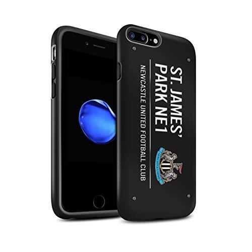 Officiel Newcastle United FC Coque / Matte Robuste Antichoc Etui pour Apple iPhone 7 Plus / Pack 6pcs Design / St James Park Signe Collection Noir/Blanc