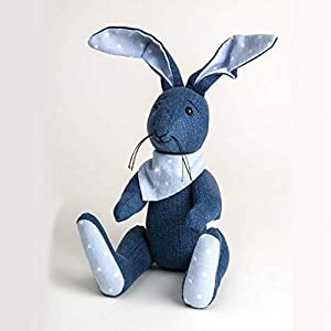 Canterbury Bears ltd 131 - Conejo de Mezclilla de Color Azul