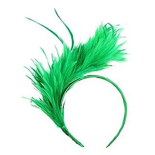 ZahuihuiM Vintage tête colorée Hoop pour Les Femmes Burlesque Coiffe Coiffe clapet Plume d'autruche Fantaisie Bandeaux