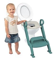 Dr. Schandelmeier 355633 Toiletten-Trainer mit Stufen, grün-weiß