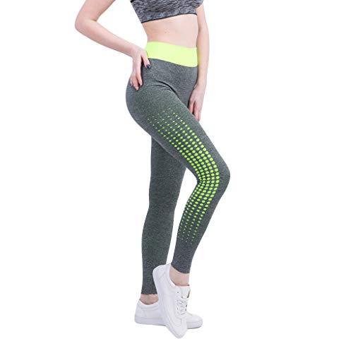 Damen Sommer Sexy Frauen Fitness Atmungsaktives Feuchtigkeitsableitende High Waist Yogahoseneignung Freien Laufen Saugt Schweiß Feste Laufende Gamaschenhose Sporthosen ()