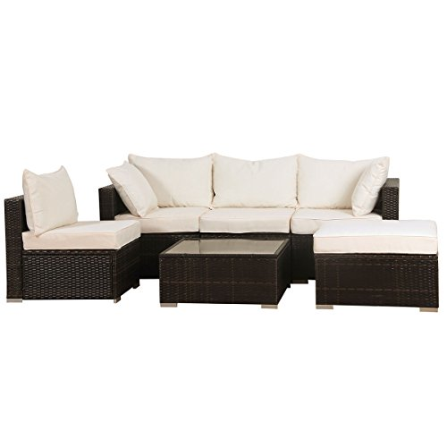 svita california plus poly rattan lounge gartenset sofa set garnitur mit aluminium rahmen. Black Bedroom Furniture Sets. Home Design Ideas