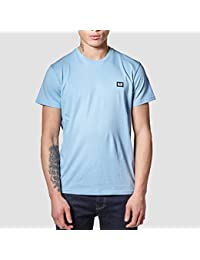 Weekend Offender Mens Ishiguro Solid Colour Badge Tee T-Shirt In Sky