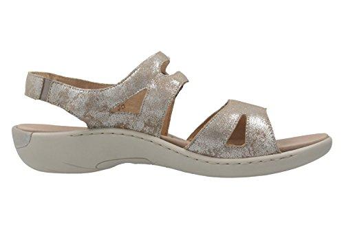 ... REMONTE - Damen Sandalen - Grau Metallic Schuhe in Übergrößen Grau ... 62b95504f5