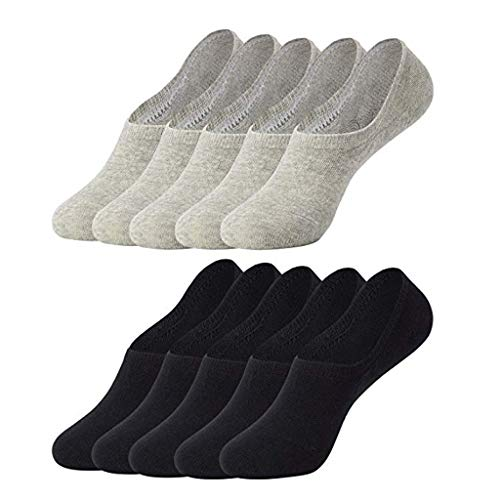 10 Paar Sneaker Socken Dasongff Damen & Herren Invisible Unsichtbare Sneaker Socks Baumwolle Bequem ohne Drückende Naht Unisex Sportsocken (College Paare Kostüme)