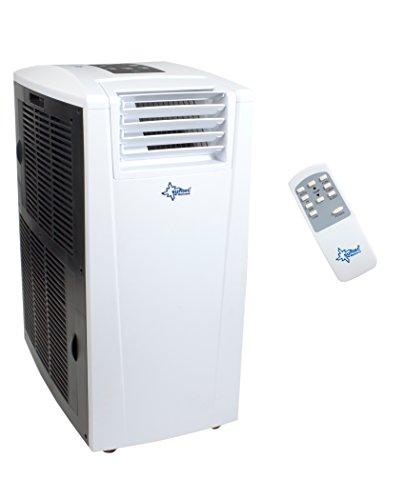 SUNTEC mobiles lokales Klimagerät ENERGIC 9.0+ [Für Räume bis 90 m³ (~38 m²), Kühlen + Heizen + Entfeuchten, 9.000 BTU/h, Energieeffizienzklasse A+/A+++]