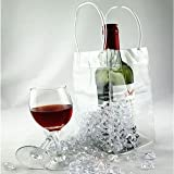 #9: Chateau Comfort (Set of 6 Pcs) Clear Transparent PVC Wine Beer Champagne Drink Ice Bag Bottle Cooler Chiller for Parties Picnics