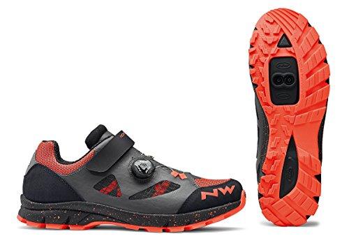 Northwave Terrea Plus Damen MTB Trekking Fahrrad Schuhe grau/schwarz/orange 2018: Größe: 37