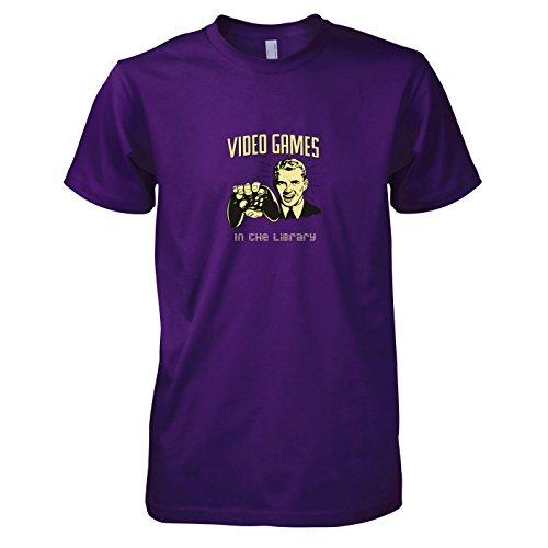 TEXLAB - Library Gaming - Herren T-Shirt, Größe L, violett (Ratchet Clank Kostüm)