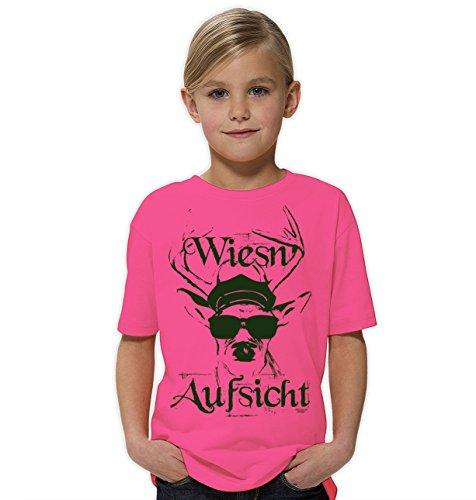 Kinder Mädchen Girlie Kurzarm Trachten T-Shirt Outfit zum Volksfest Oktoberfest :-: Geburtstagsgeschenk Kids :-: Wiesn - Aufsicht :-: Geschenkidee Teenager :-: Farbe: rosa Gr: 158/164