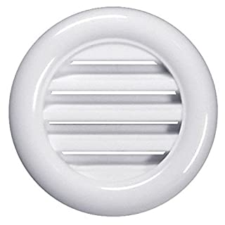 White Bathroom Door Mini Circle Air Vent Grille 40mm / 1.57