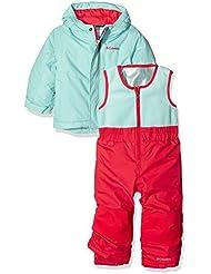 Columbia–Mono y chaqueta de esquí de nieve bebé, Infantil, Buga Ski, Blanco