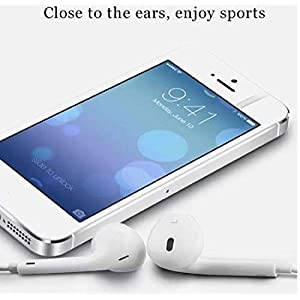 SBA999 Headphones/Earphones with Mic for iPhone, Apple, iPhone 4 / 4s / 5 / 5s / 6 / 6s iPad with 3.5mm Jack with Volume Button and Mic