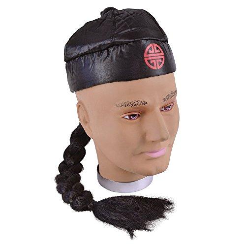 Bristol Novelty bh171Chinesen Hat mit Pigtail, One size