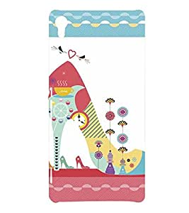 GIRLS FOOTWEAR WITH A PATTERN LIKE LOOK 3D Hard Polycarbonate Designer Back Case Cover for Sony Xperia XA