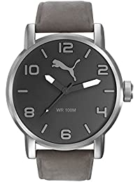 Puma Time Herren-Armbanduhr 10414 - LEATHER GREY Analog Quarz Leder PU104141005