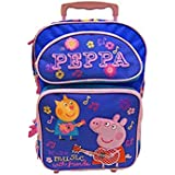 "Peppa Pig Girls Roiling Backpack 16"" Periwinkle Pink"