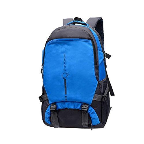 Yy.f Computer Rucksack Bergsteigen Draußen Schultern Schüler Tasche Tag Rucksack Markise Bergsteigen Angeln Reisen Bike. Mehrfarbig,Blue-35*20*58cm (Blaue Markise Tag)