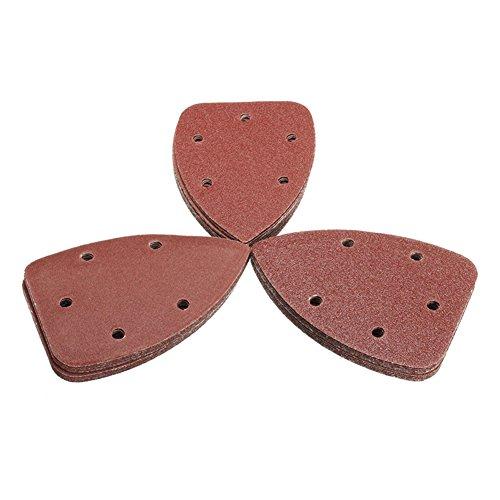 Cutogain 30Stück Sand Papier Tabelle Disc Polieren Pads für Black Decker Palm Sander Körnung 6080120