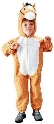 Foxxeo 10071 | Kostüm Pferd Pferdekostüm Tierkostüm für Kinder Pferde Kinderkostüm Gr. 98 - 140, ()