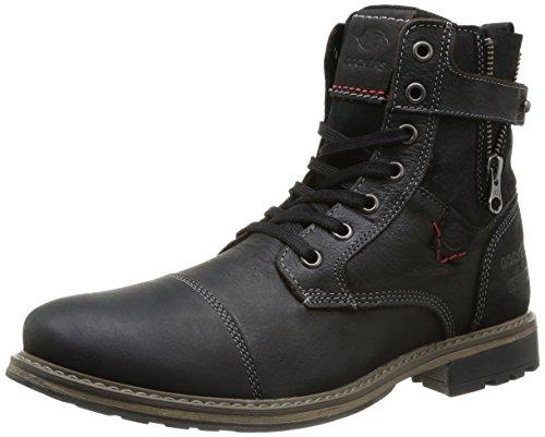 Dockers by Gerli 355223-239001, Herren Combat Boots, Schwarz (schwarz 001), 46 EU (Dockers Herren Schuhe Boot Schuhe)